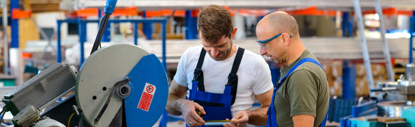 Preparing to work in a manufacturing environment